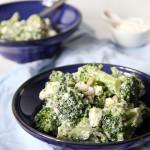 Sałatka z brokułem i serem feta
