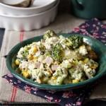 Sałatka z brokułem, szynką i serem feta
