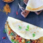 Naleśniki z indykiem w sosie curry
